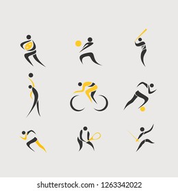 Set of sports logo vector