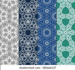 set of spring decorative floral seamless pattern. vector illustration. for invitation, greeting card, wallpaper, interior design