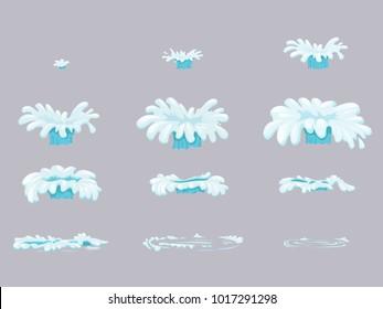 Set sprite sheet splash animation  water detail