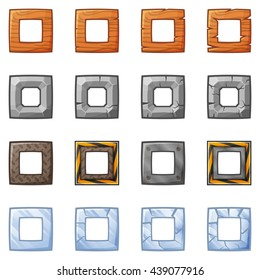 Set Of Square Blocks For Physics Game