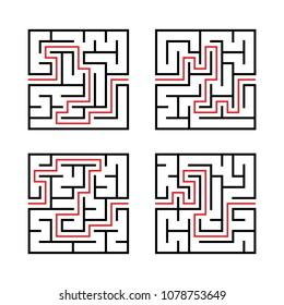 Simple Maze Images, Stock Photos & Vectors | Shutterstock
