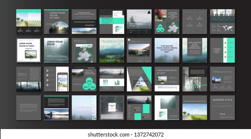 Set of square modern blog posts or Editable simple blur banner shop, trendy covers idea. Slides for app, web digital style. Cards handpicked beauty screen. Technology collection. Social media pack