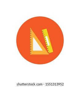 Set square & ruler simple illustration clip art vector