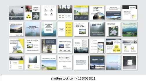 Set of square stylish, trendy layout templates for social media, mobile apps or flyer design. Social media pack.