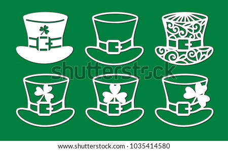 9a854b75a10 Set St Patricks Day Decoration Openwork Stock Vector (Royalty Free ...