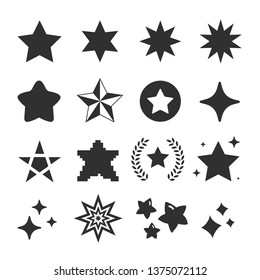 set of star icon vector