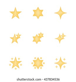Set of star icon vector isolated on white background. Emoji vector. Bright  smile icon set. Emoticon icon web.
