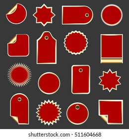 Set of stickers, labels, icons and banners for sale. Collection of design elements for markets, stores and shops. Vector illustration.