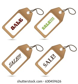 Set of stickers sale.Business sale retro tag label vector illustration on white background.