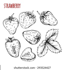 strawberry drawing images stock photos vectors shutterstock