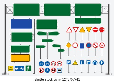 set of street sign. easy to modify