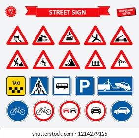 set of street signs. easy to modify