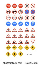 set of street signs.  easy to modify Vector illustration