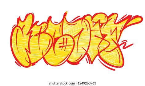 Set street type calligraphy design alphabet graffiti flop fast style letters write aerosol paint spray. Free wild style for wall city urban . Modern vector underground style illustration art print.
