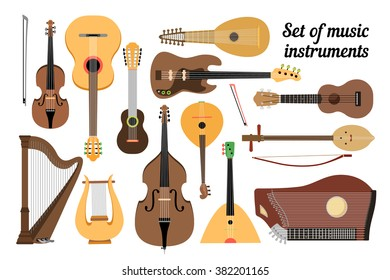 Set of stringed musical instruments