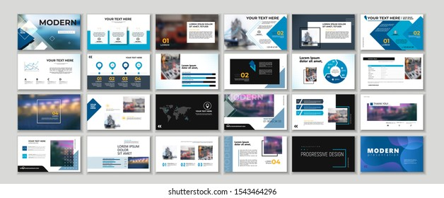 Set of style Original Business presentation templates elements. Vector infographics clean booklet. Use in Corporate work annual report, flyer, post leaflet, marketing, advertising, banner, smm. a4
