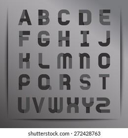 Set of Stylish Alphabet : Vector Illustration