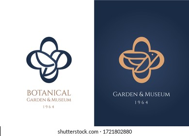 Set of stylized bird logo inserted inside a round cross. holy logotype with flying doves. Symbol for veterinarian and pet shop