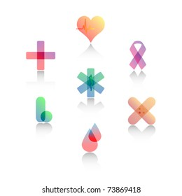 Set of Stylized Medical Symbols