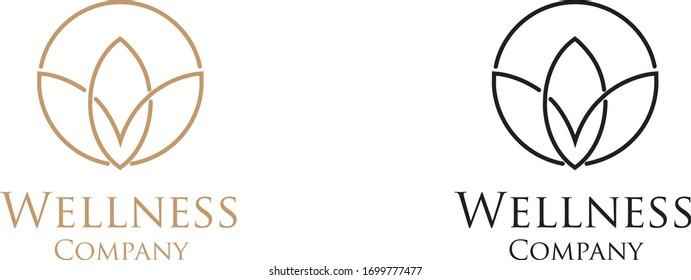 A set of stylized wellness spa logo