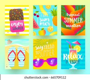 summer layout design greeting card cover のベクター画像素材