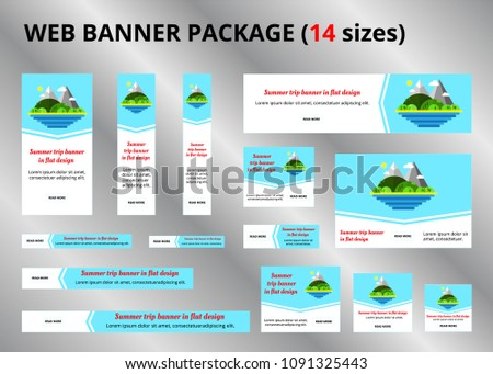 Travel Promotion Banners Kid School Banners