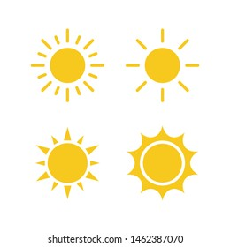 set sun icon vector illustration logo template