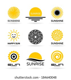 Set of sun icons (4)