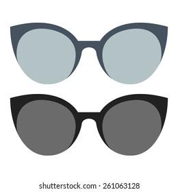Set of sunglasses. Flat design. Vector illustration