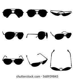 Set sunglasses icon. Simple illustration of sunglasses  icon white background for web.