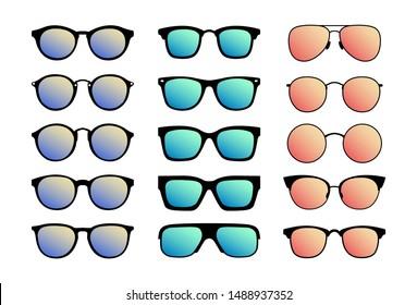 A set of sunglasses. Summer glasses.