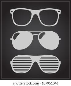 set of sunglasses. vector illustration background