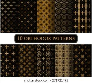 Set of swatch. Set of orthodoxy patterns
