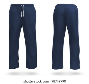 Set of sweatpants blank design.