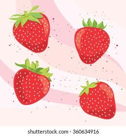 Set of  sweet strawberry