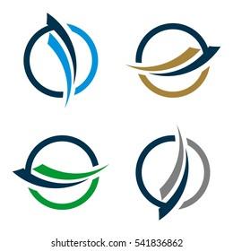 Set Swoosh and Circle for Finance Logo Template Illustration Design. Vector EPS 10.