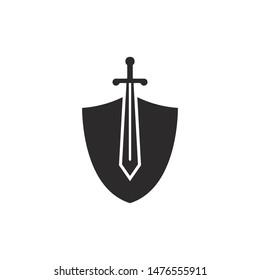 Set of swords logo template vector icon illustration design