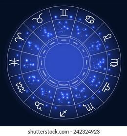 Set of Symbol Zodiac Sign. Vector Illustration. EPS10