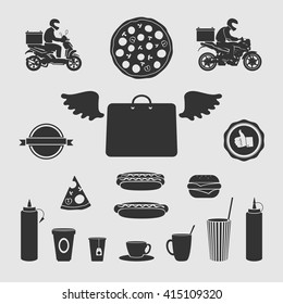 Set Symbols Food Delivery