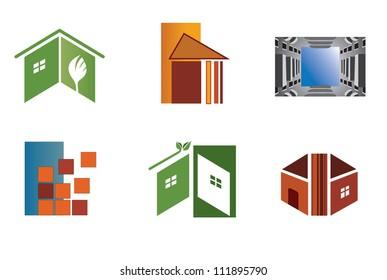 Set of symbols for logo designing