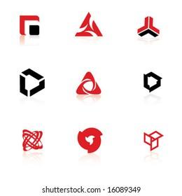 Set of symbols, logo elements