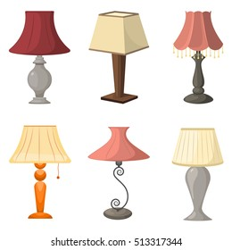 Set of table lamps. Vector illustration, eps 10