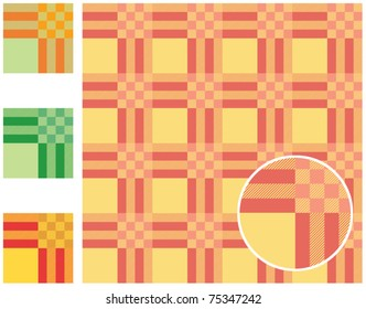 Set of tablecloth pattern - vector