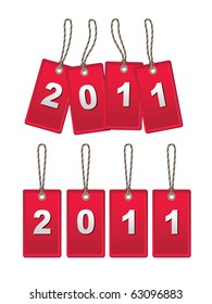 A set of tags in the cord to c 2011 Year