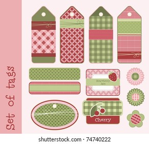Set of tags and labels, vector