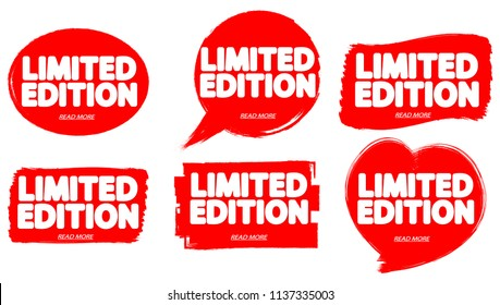 Set tags Limited Edition, banners design template, vector illustration