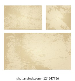 Set of Tan Vector Backgrounds with Grunge Paper Texture