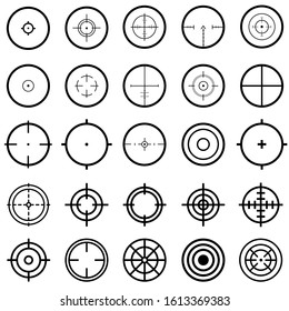 set of target line icons, such as job hunting, aiming illustration sign collection, arrow