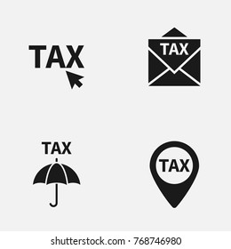 Set of taxes vector   icons.