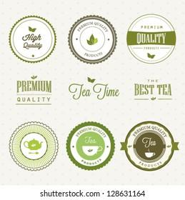 Set of tea labels